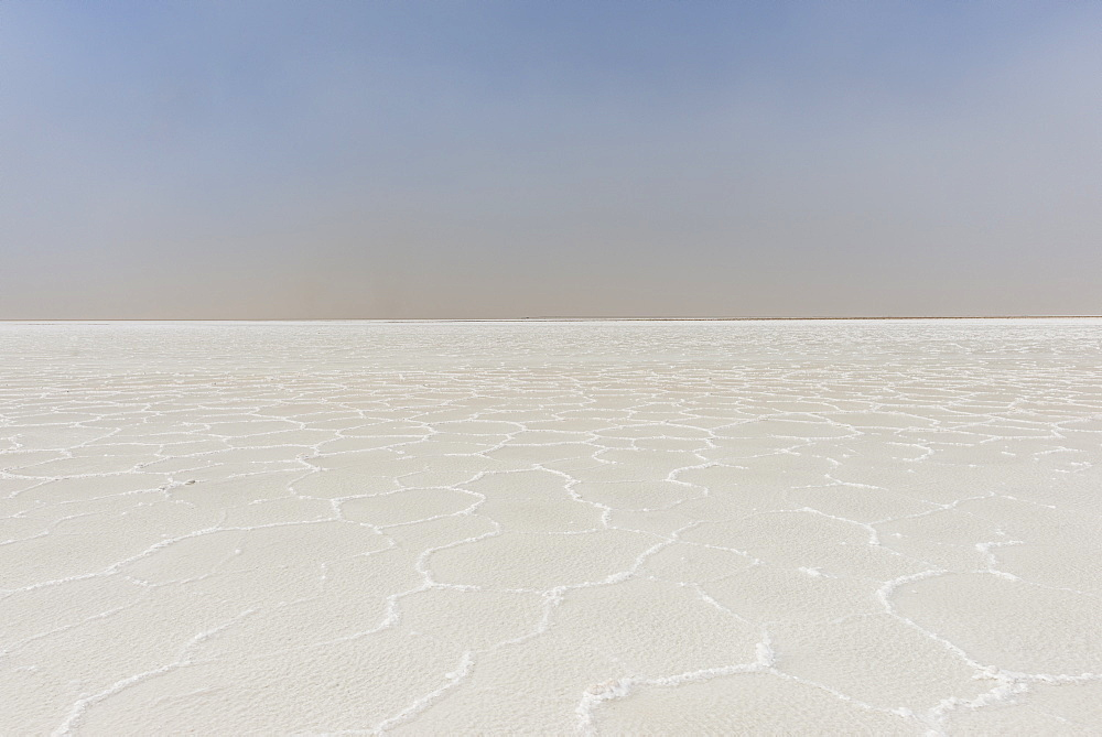 Image of a pure salt lake in Ethiopia