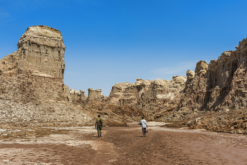 Sandstone formations in Dallol, hottest place on earth, Danakil depression, Ethiopia, Africa - 1184-1858
