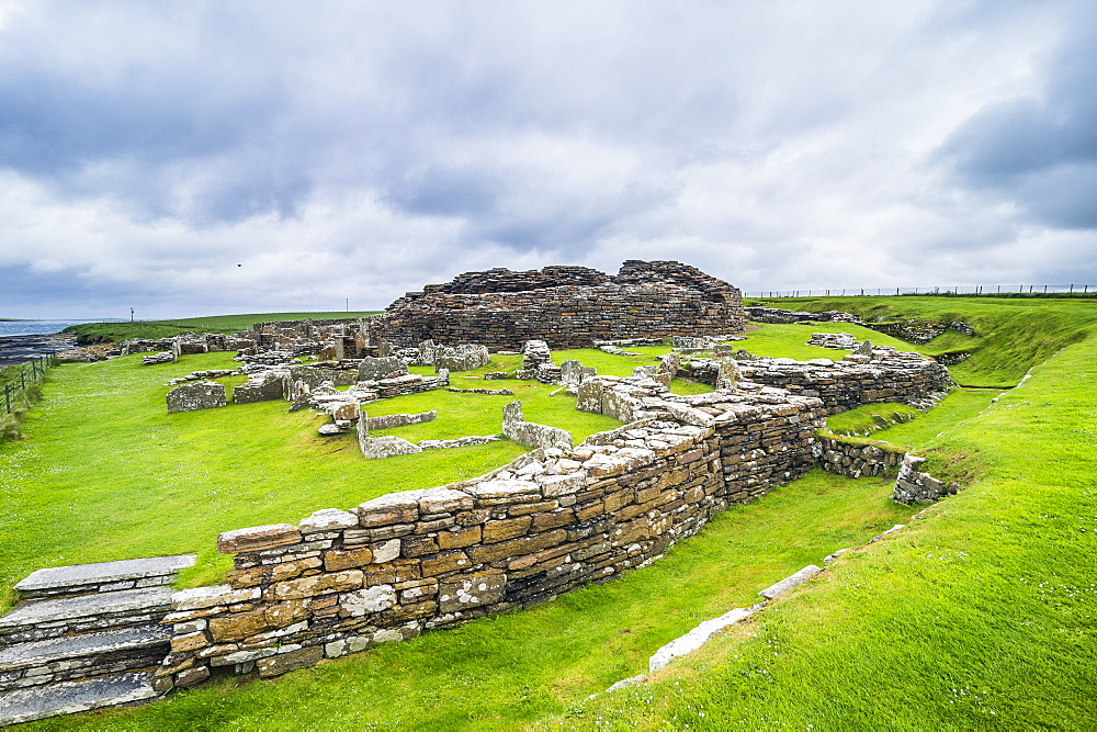 Iron age build Broch of Gurness, Orkney Islands, United Kingdom - 1184-1866