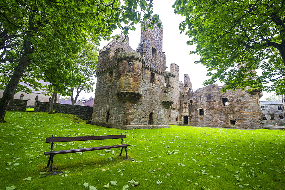 Bishop and Earls Palace of Kirkwall, Orkney Islands, Scotland, United Kingdom, Europe
