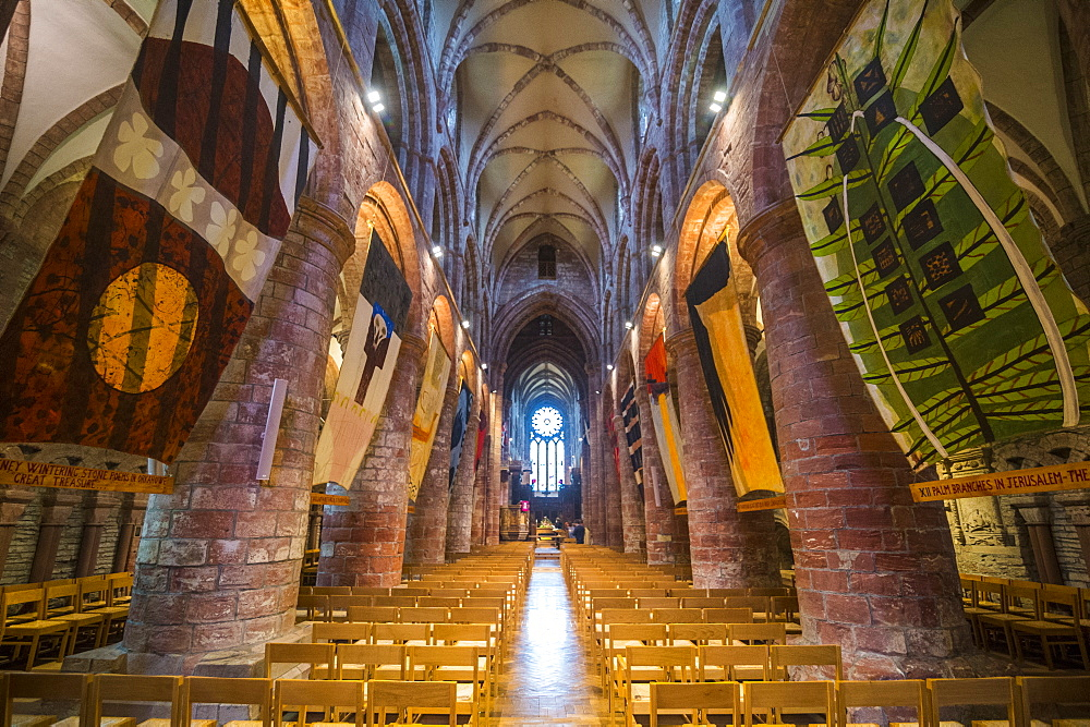 Interior of the St. Magnus Cathedral, Kirkwall, Orkney Islands, Scotland, United Kingdom, Europe