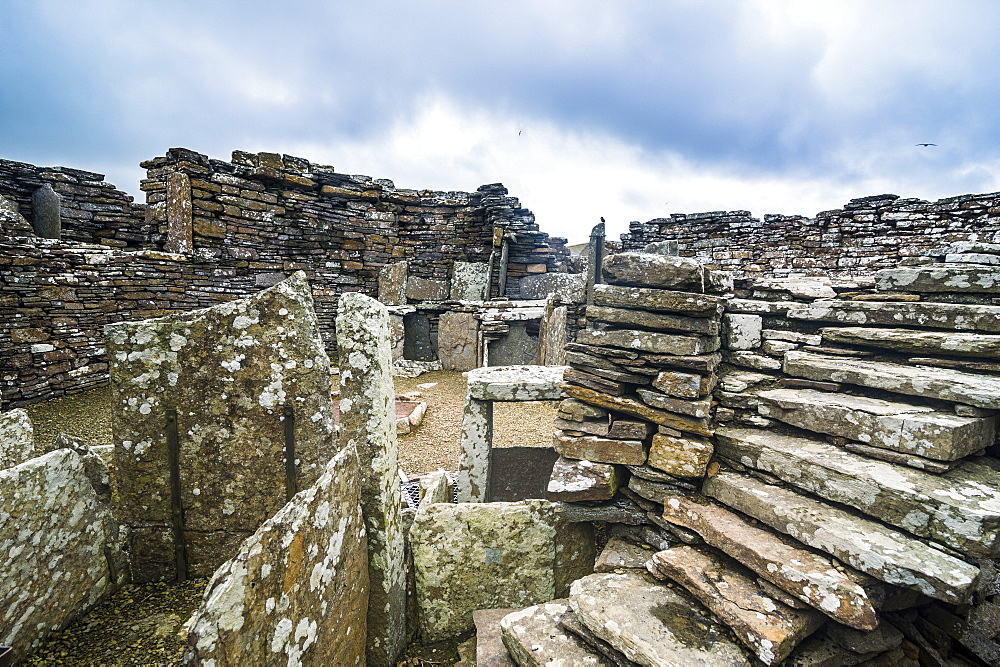 Iron Age built Broch of Gurness, Orkney Islands, Scotland, United Kingdom, Europe