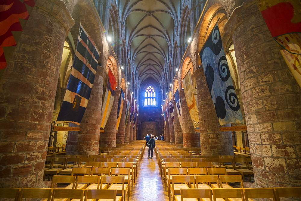 Interior of St. Magnus Cathedral, Kirkwall, Orkney Islands, Scotland, United Kingdom, Europe