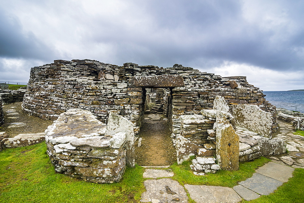 Iron age build Broch of Gurness, Orkney Islands, United Kingdom - 1184-1875