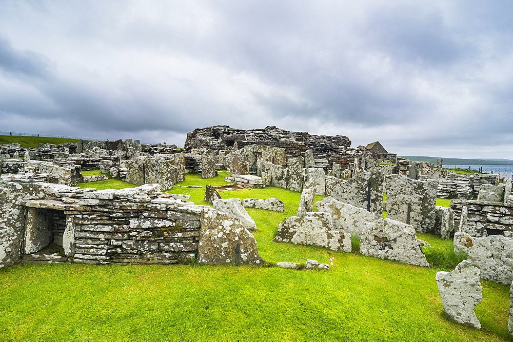 Iron age build Broch of Gurness, Orkney Islands, United Kingdom - 1184-1878