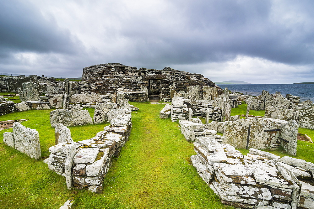 Iron age build Broch of Gurness, Orkney Islands, United Kingdom - 1184-1879