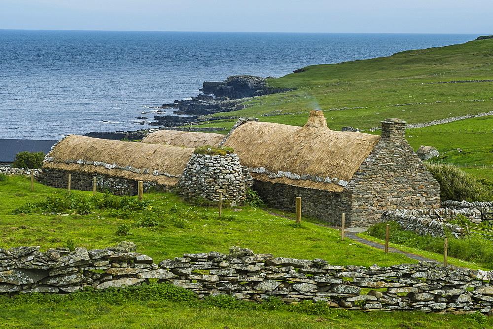Historic Croft House Museum, Shetland Islands, Scotland, United Kingdom, Europe - 1184-1886