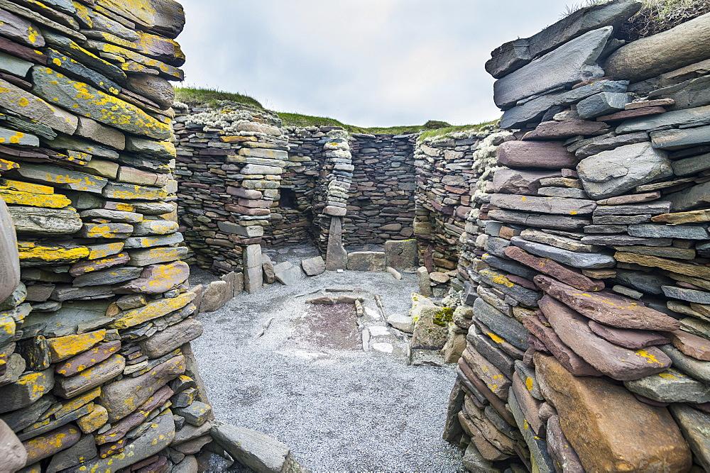 Jarlshof prehistoric archaeological site, Shetland Islands, Scotland, United Kingdom, Europe - 1184-1887