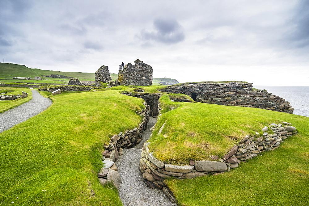 Jarlshof prehistoric archaeological site, Shetland Islands, Scotland, United Kingdom, Europe - 1184-1890