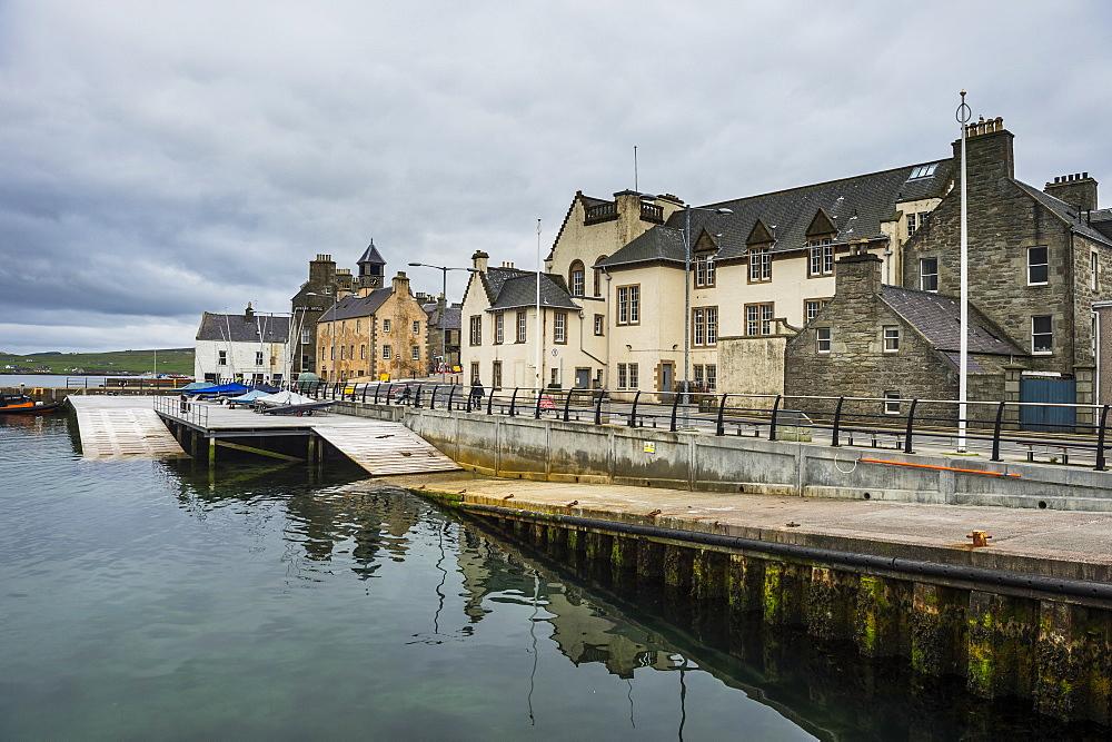 Seafront of Lerwick, capital, of Shetland Islands, Scotland, United Kingdom, Europe
