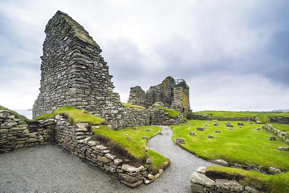 Jarlshof prehistoric archaeological site, Shetland Islands, Scotland, United Kingdom, Europe - 1184-1892