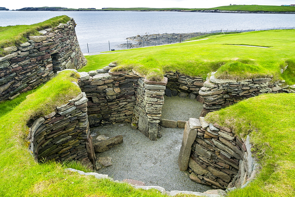 Jarlshof prehistoric archaeological site, Shetland Islands, Scotland, United Kingdom, Europe - 1184-1894