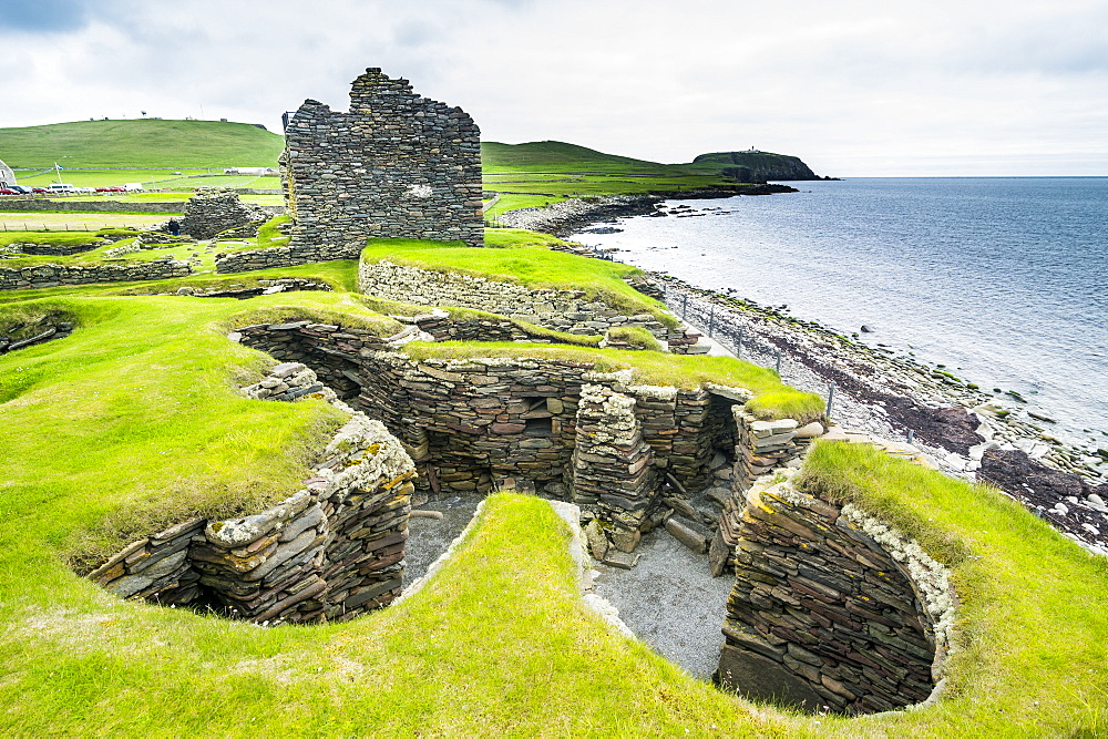 Jarlshof prehistoric archaeological site, Shetland Islands, Scotland, United Kingdom, Europe - 1184-1896