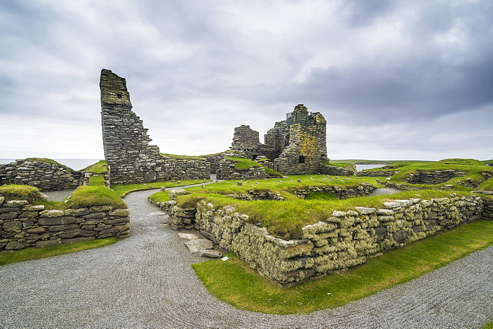 Jarlshof prehistoric archaeological site, Shetland Islands, Scotland, United Kingdom, Europe