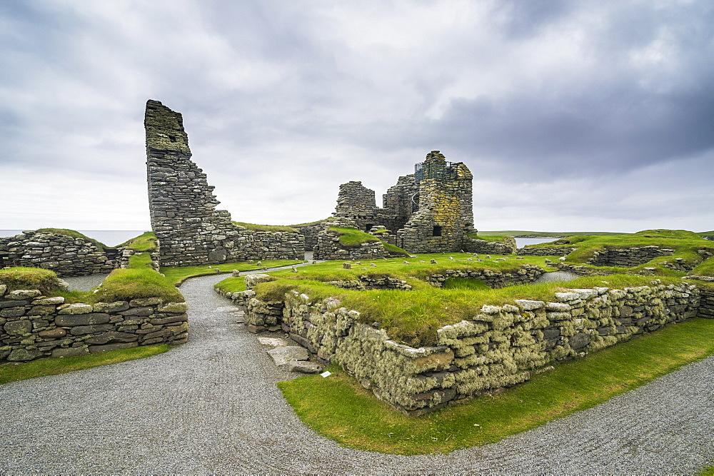 Jarlshof prehistoric archaeological site, Shetland Islands, Scotland, United Kingdom, Europe - 1184-1897