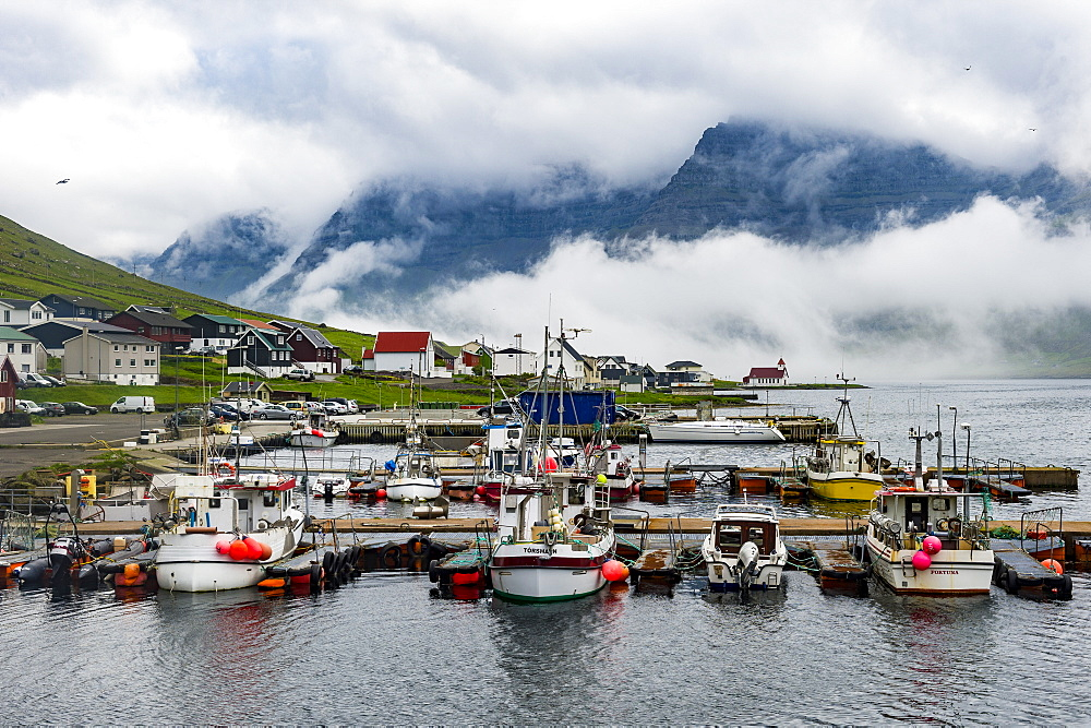 Boat harbour of Norddeble, Vidoy, Faroe islands, Denmark