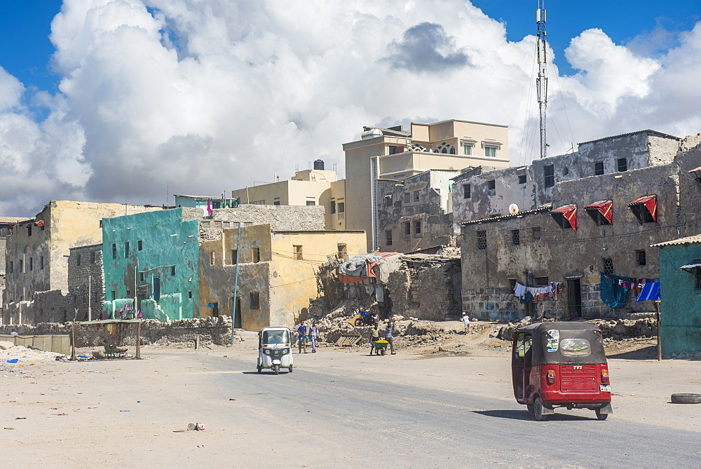 The destroyed old town of Mogadishu, Somalia, Africa