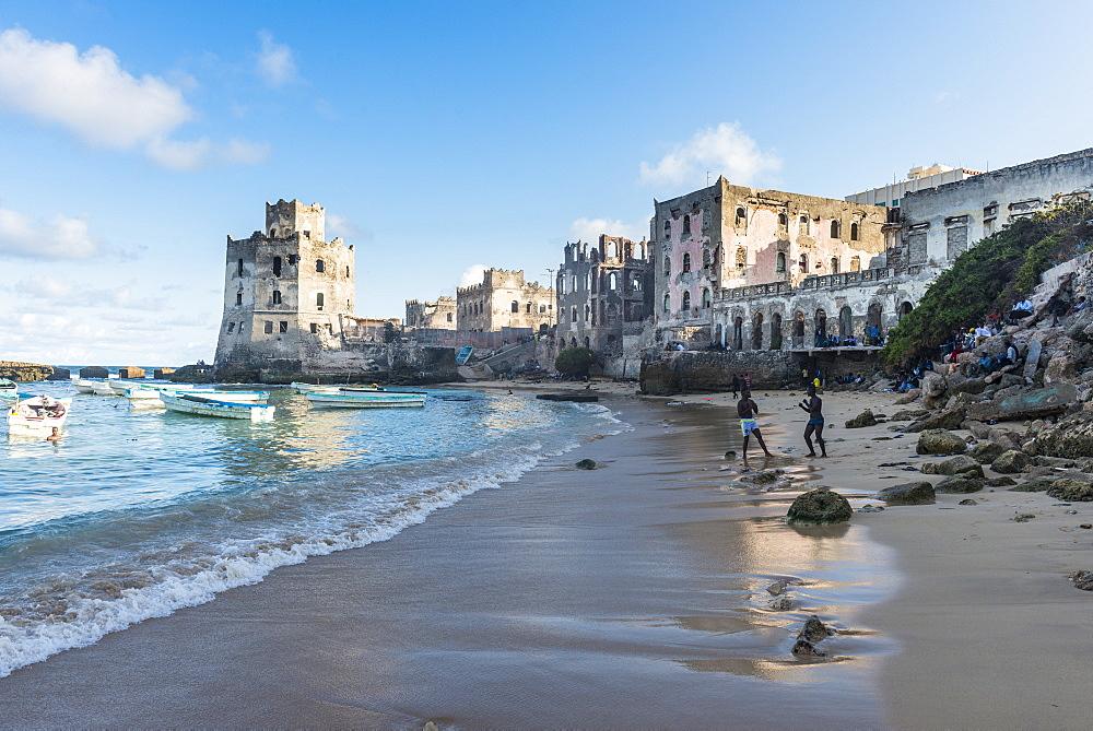 The old italian harbour of Mogadishu, Somalia