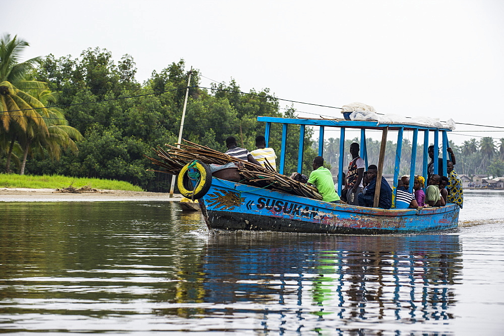 Local ferry in Assinie, Ivory coast - 1184-2047