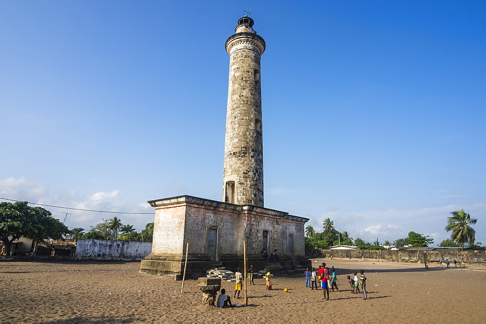 Old lighthouse in the Unesco world heritage sight, Grand Bassam, Ivory coast - 1184-2051