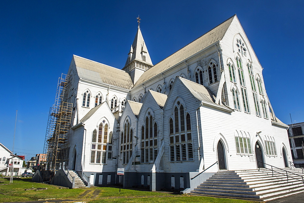 St. George's Cathedral, one of the largest wooden churches in the world, Georgetown, Guyana, South America