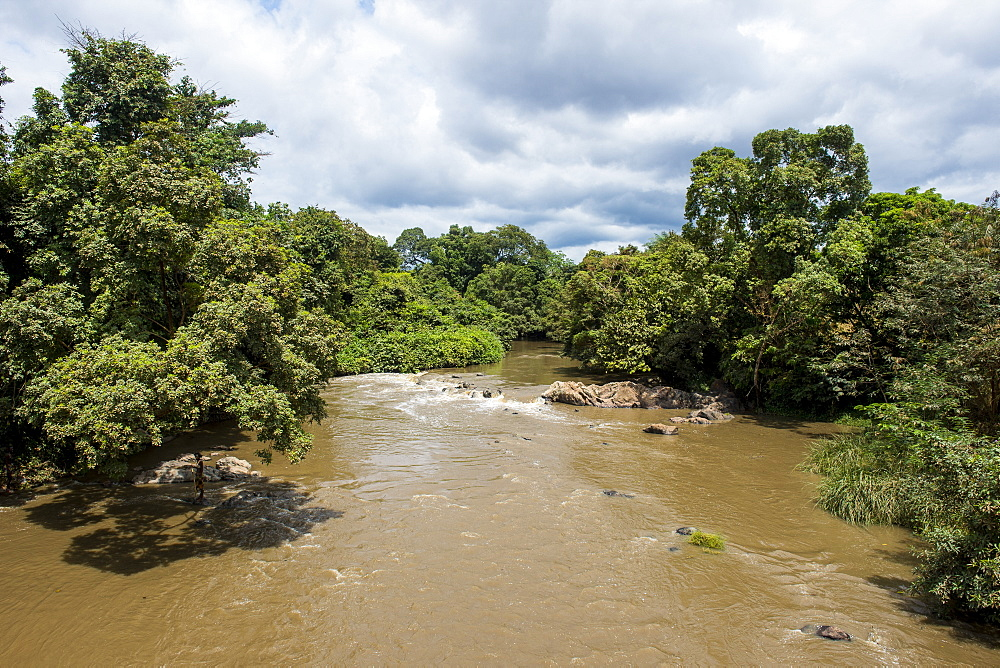 Overlook over the Ogoolle River, Unesco world heritage sight Lope national park, Gabon