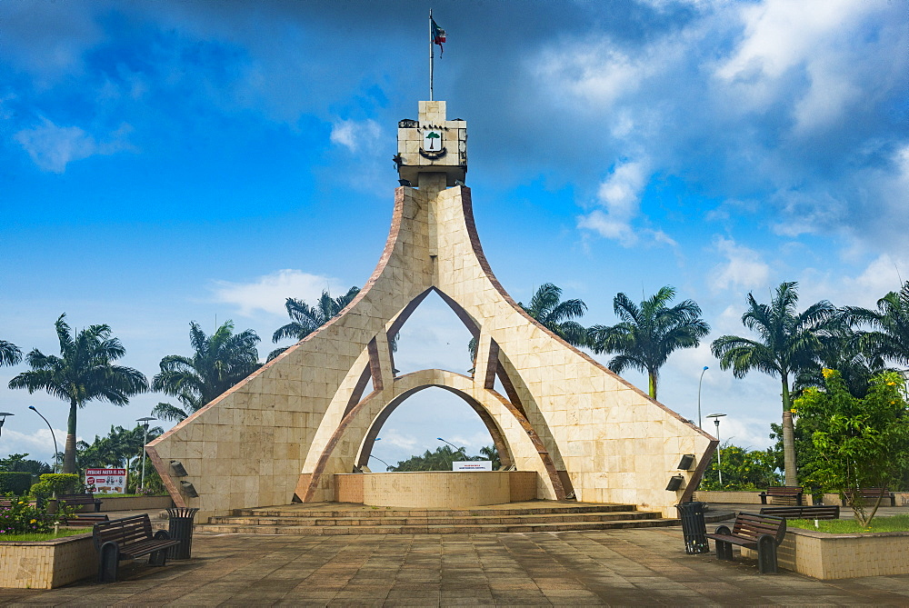Monument in new quarter of Malabo, Bioko, Equatorial Guinea, Africa