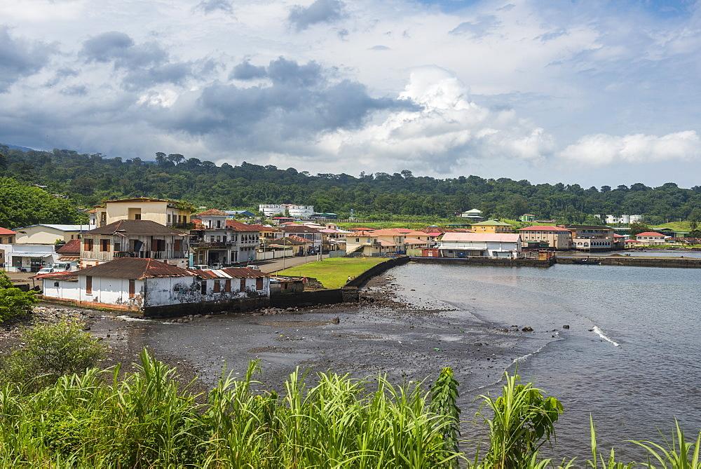 View over Luba, island of Bioko, Equatorial Guinea, Africa
