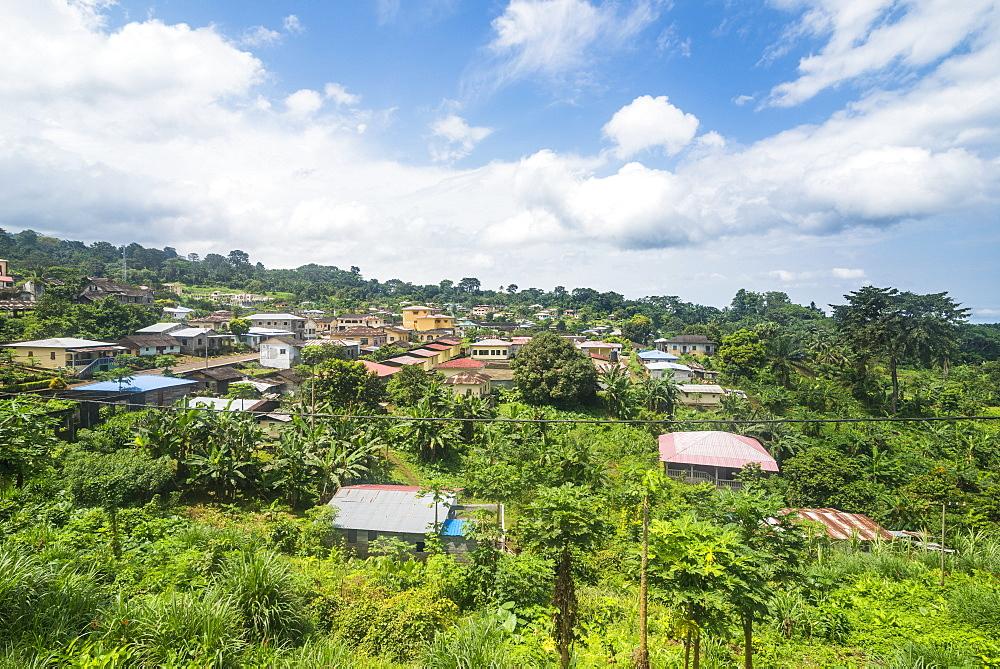 View over Batete, island of Bioko, Equatorial Guinea, Africa