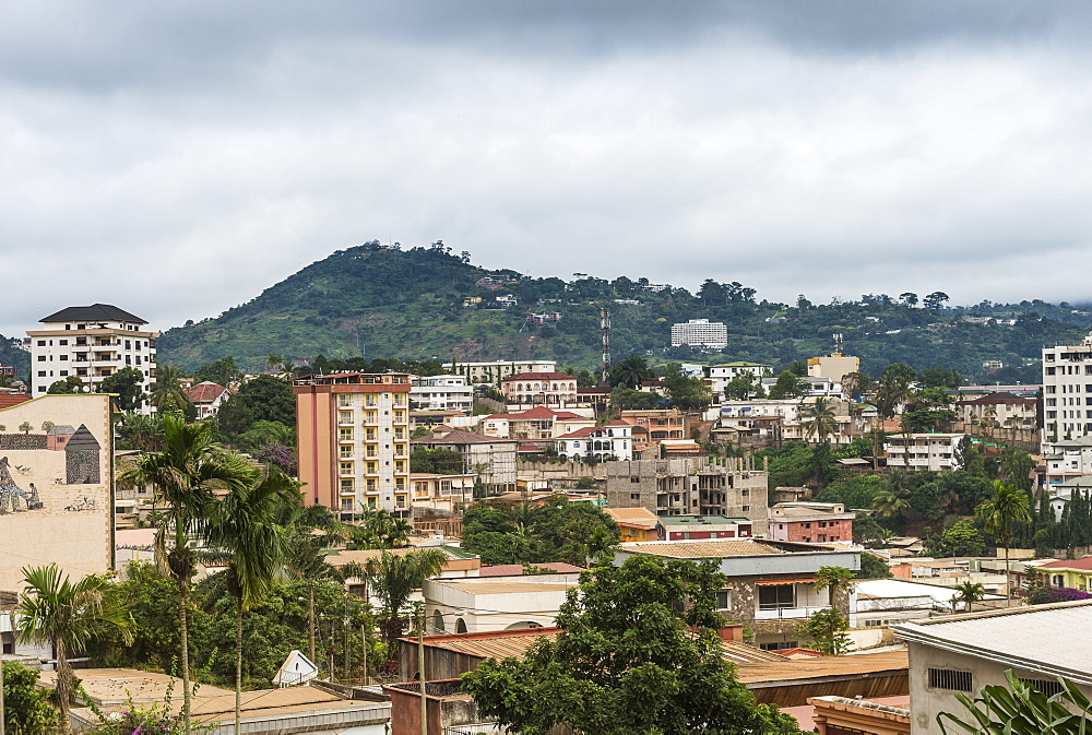 View over Yaounde, Cameroon, Africa