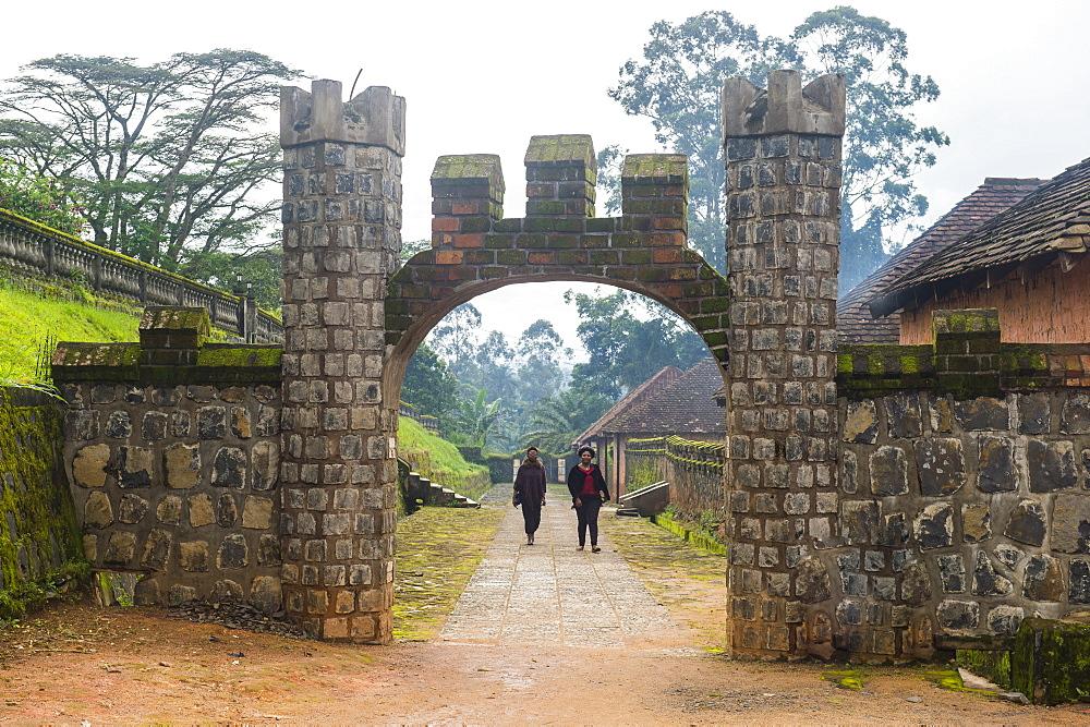 Entrance to Fon's palace, Bafut, Cameroon, Africa