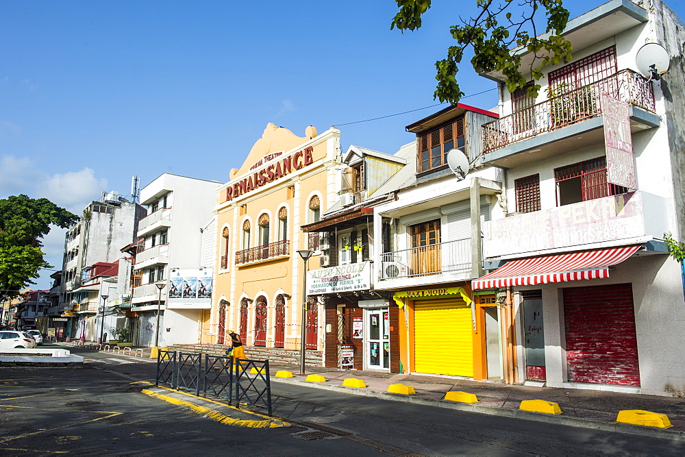 Colonial buildings, Place de la Victoire, Pointe-a-Pitre, Guadeloupe, French Overseas Department, West Indies, Caribbean, Central America