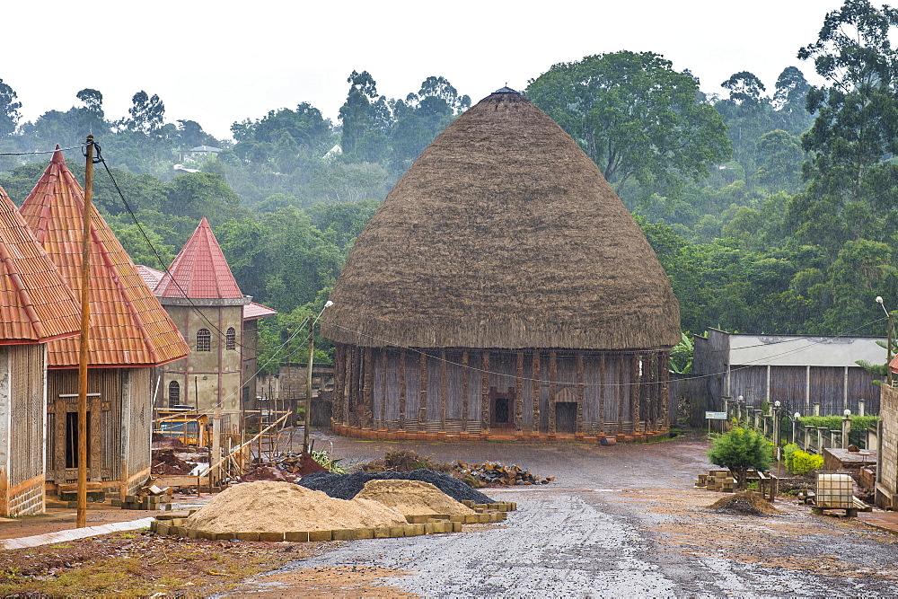 Large chiefdom, Bandjoun Palace, near Foumban, Cameroon, Africa