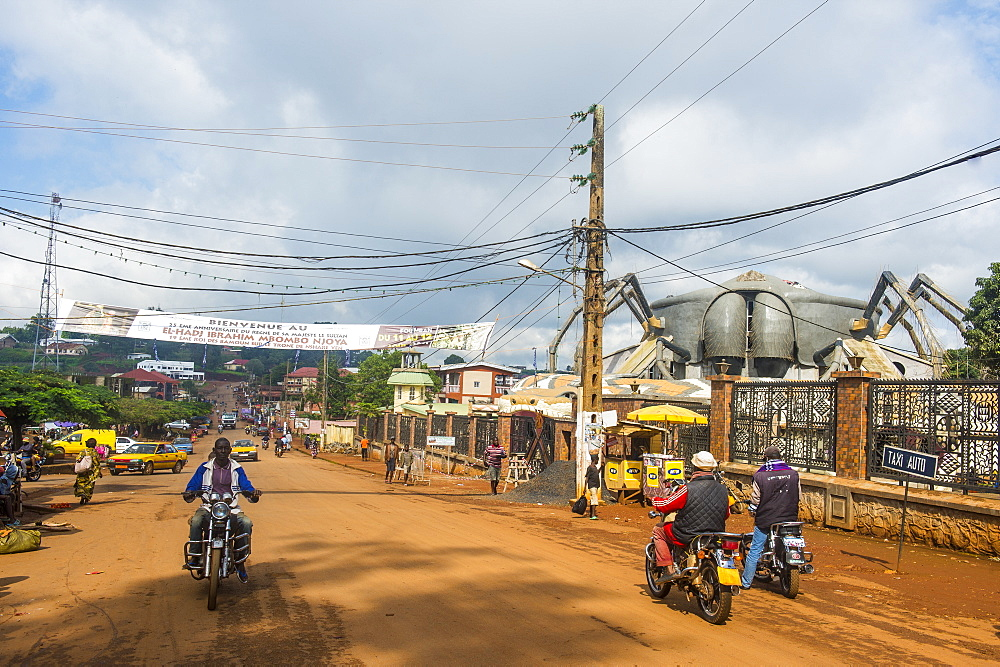 City centre of Foumban, Cameroon, Africa