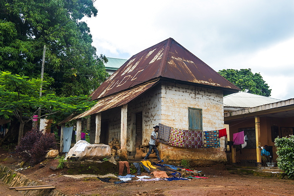 Colonial German house, Foumban, Cameroon, Africa