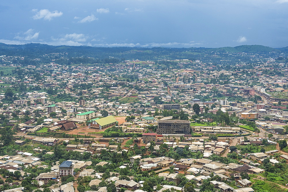 View over Bamenda, Cameroon, Africa