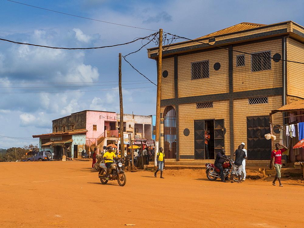 Town centre of Yokadouma, Eastern Cameroon, Africa