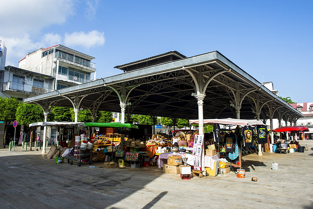 Covered Spice market, Pointe-a-Pitre, Guadeloupe, French Overseas Department, West Indies, Caribbean, Central America