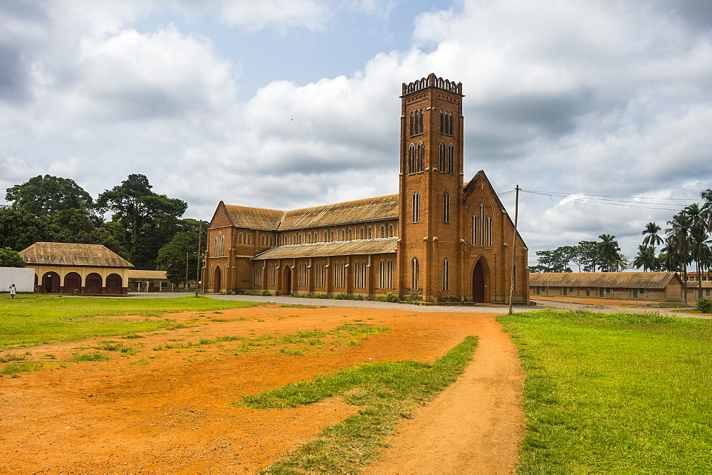 German colonial church in Mbalmayo, deep in the jungle of Cameroon, Africa