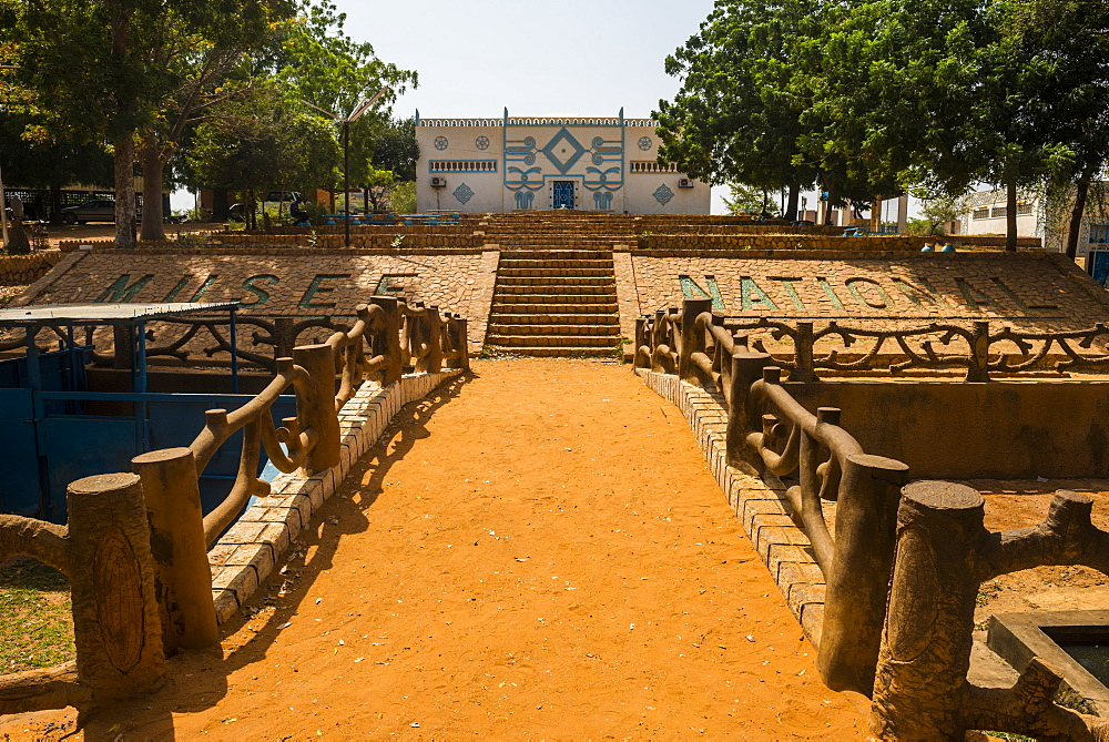 Traditional architecture building in the National Museum, Niamey, Niger, Africa