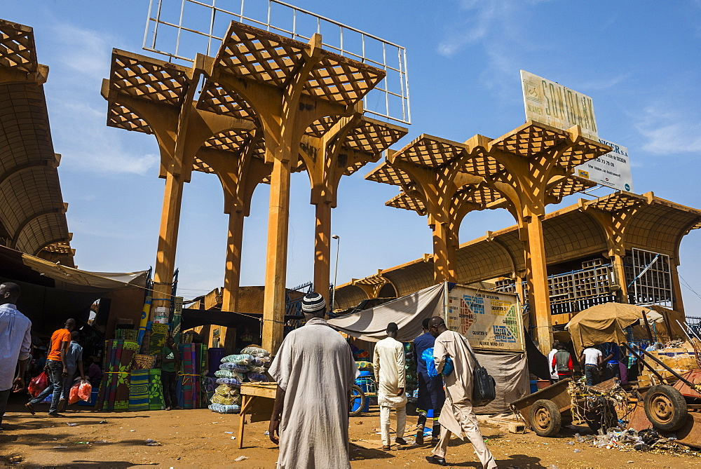 Central market in Niamey, Niger, Africa