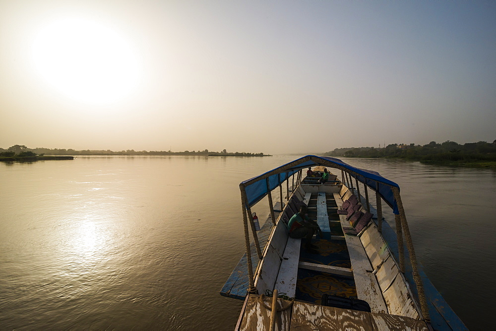 Local pirogue, River Niger, Niamey, Niger, Africa