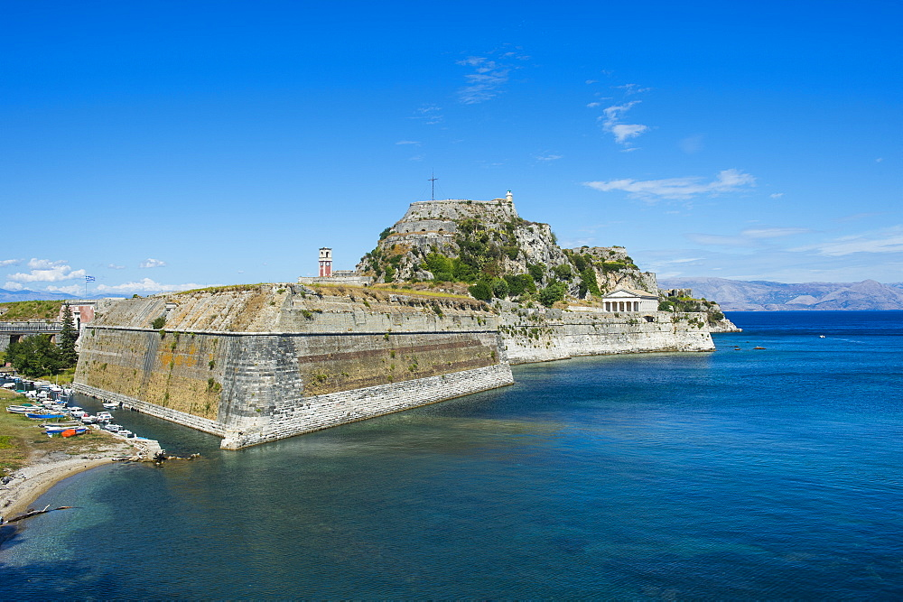 Old Fortress of Corfu town, Corfu, Ionian Islands, Greek Islands, Greece, Europe