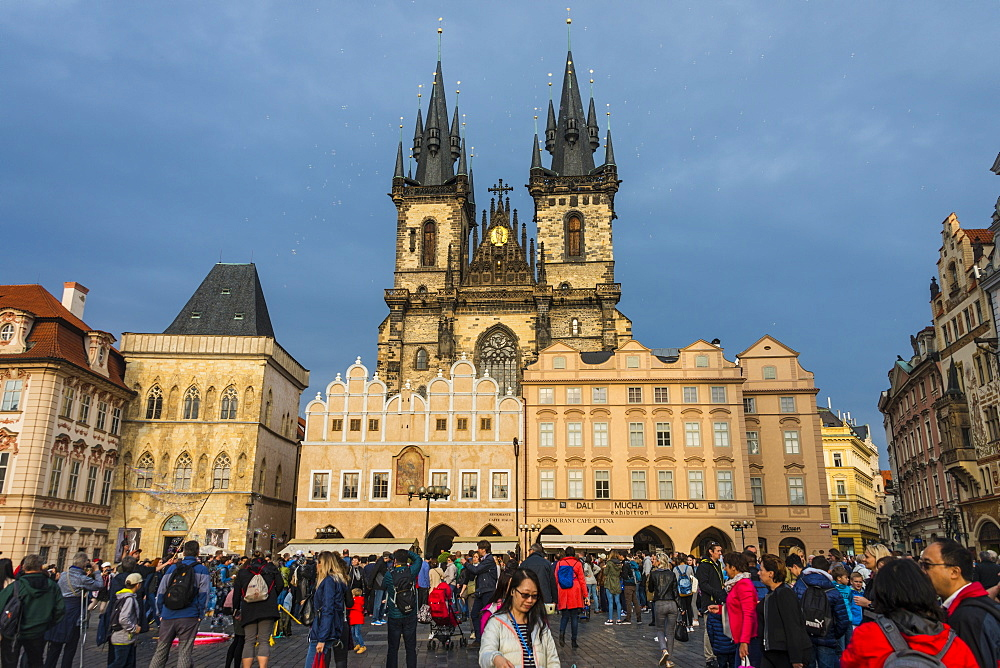 Old Town Square, UNESCO World Heritage Site, Prague, Czech Republic, Europe