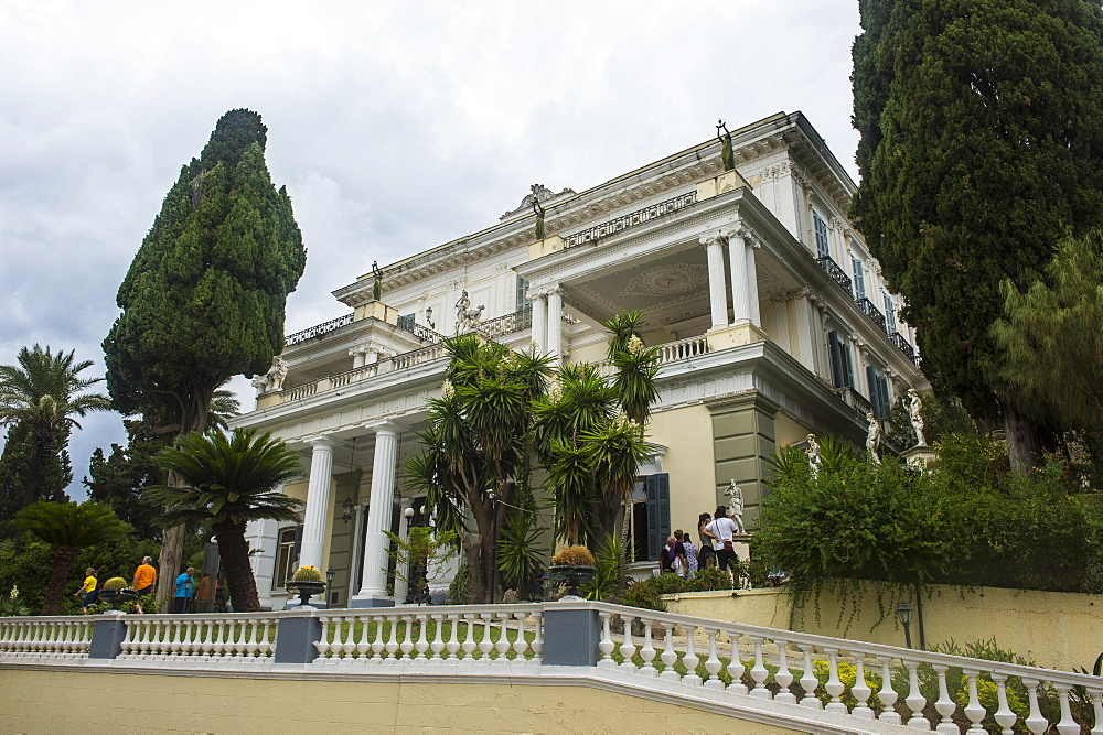Achilleion Palace, old town of Corfu, Ionian Islands, Greek Islands, Greece, Europe
