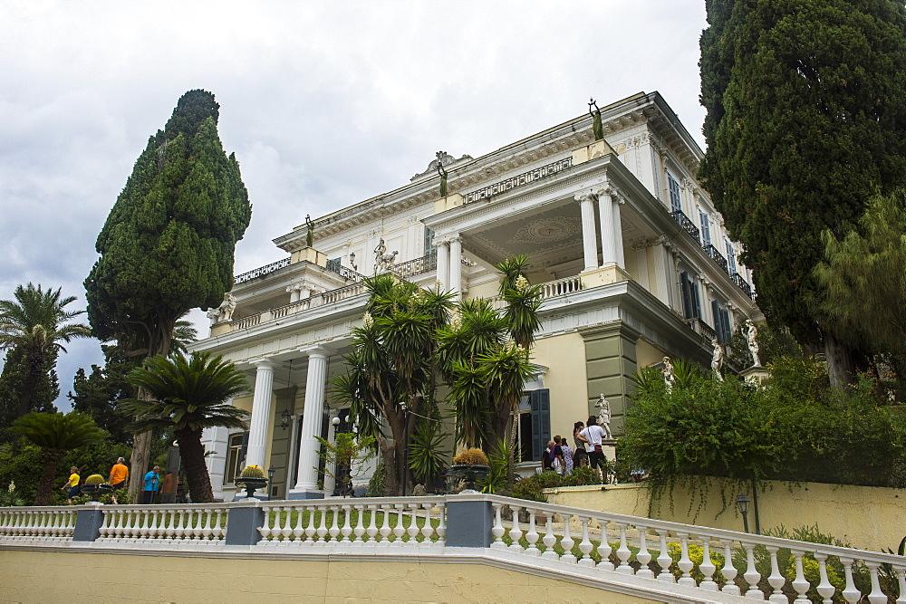 Achilleion Palace, old town of Corfu, Ionian Islands, Greek Islands, Greece, Europe - 1184-2255
