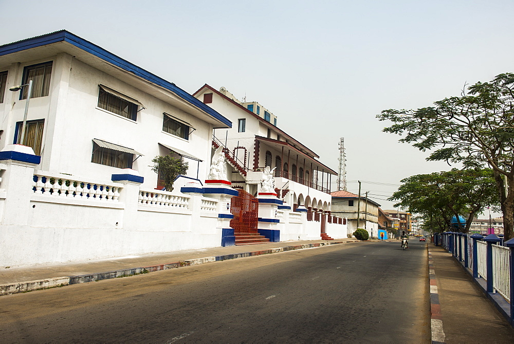Kumba's place colonial building, Monrovia, Liberia, West Africa, Africa