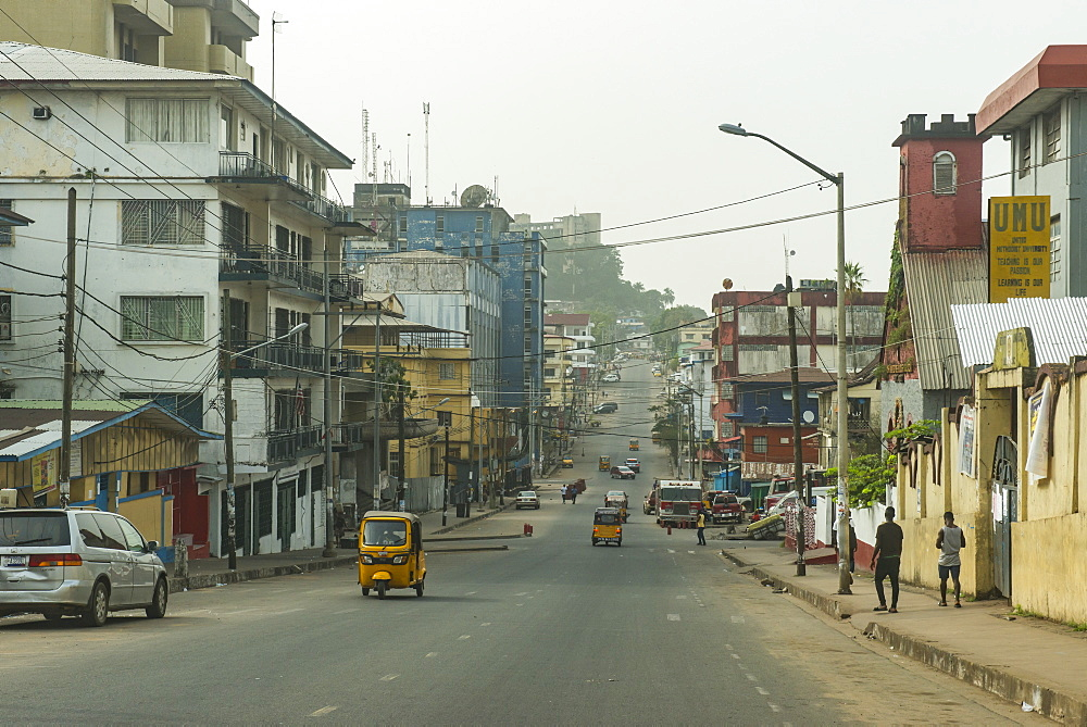 The center of Monrovia, Liberia, West Africa, Africa