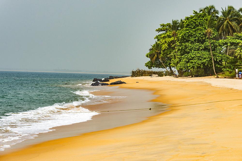 Beautiful beach in Robertsport, Liberia