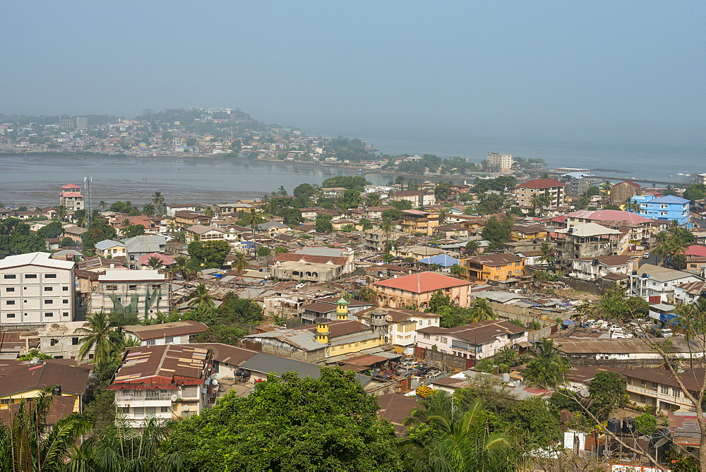 View over Freetown, Sierra Leone, West Africa, Africa